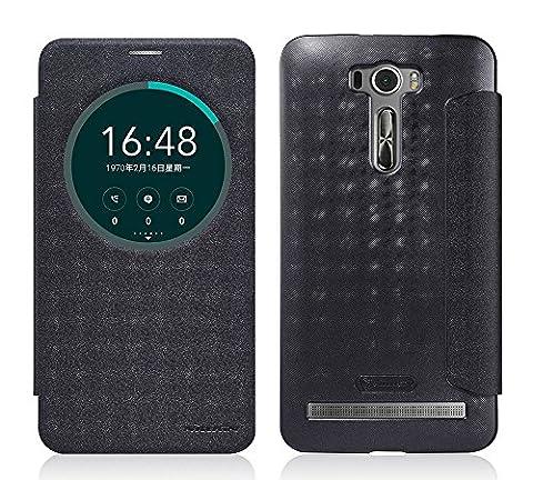 TopAce® Coque de haute qulity de Etui Housse / Flip Case pour Asus Zenfone 2 Laser ZE601KL 6.0 pouces (Noir)