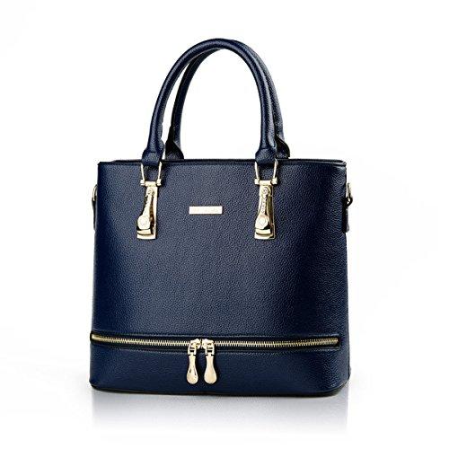 Weibliche Tasche Europa Und Die Vereinigten Staaten Elegant Einfach Handtasche Diamant Persönlichkeit Reißverschluss Messenger Umhängetasche SapphireBlue