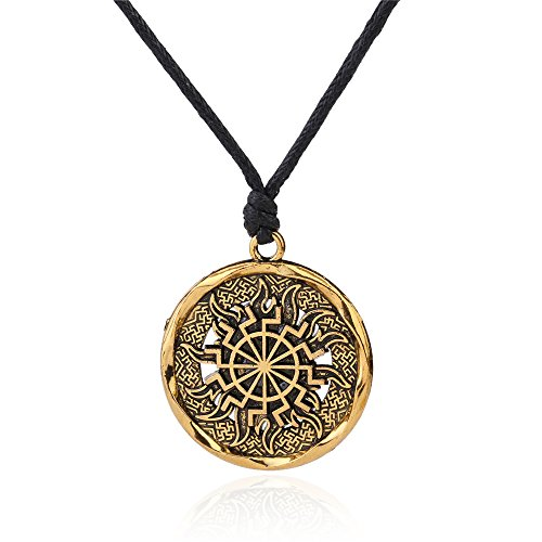 Flor de helecho Star sello los amuletos talismans símbolo colgante co