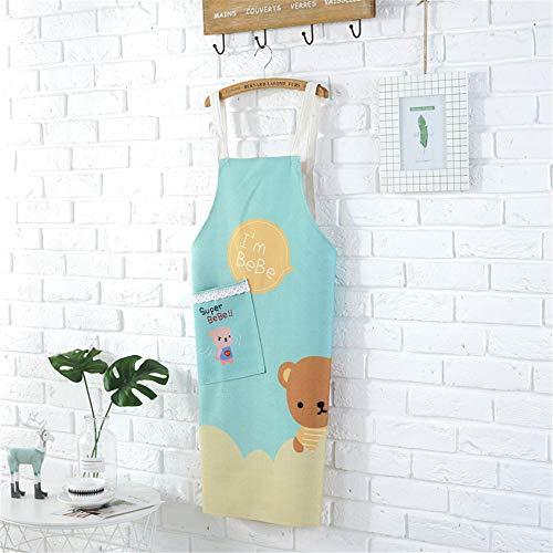 YXDZ Nordic Ins Grembiule Impermeabile Feina Cucina di Casa Carino Impermeabile Resistente AllOlio Maschio Bellissimo Grembiule Moda Feinile Stile