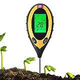 4in 1Erde Tester PH Wert Feuchtigkeit Temperatur Sonnenlicht Öl Messgerät mit LCD-Hintergrundbeleuchtung Display für Indoor Outdoor Garten Farm Rasen Pflanzen Getreide Blumen Gras Care