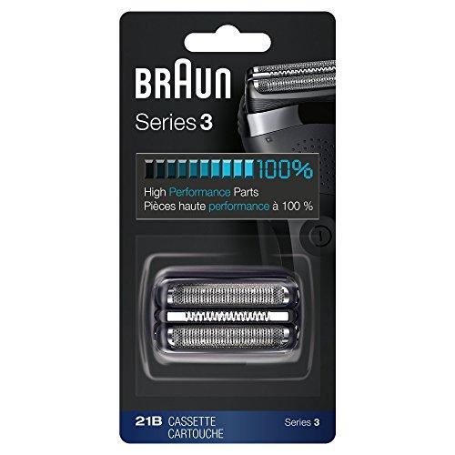 Braun 21B Ersatzkopf Kompatibel mit IL Shaver Serie 3, Schwarz