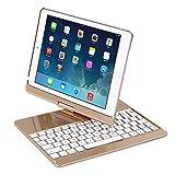 "iPad Case with Keyboard for 2018&2017 New iPad 9.7""/Pro 9.7/Air2/Air,YOUNGFUN Bluetooth Wireless Keyboard"