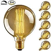 CMYK Edison bulb E27 40W Incandescent Vintage - Retro Old Globe 80mm Carbon Filament