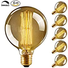 CMYK Edison bulb E27 40W Incandescent Vintage - Retro Old Globe 80mm Carbon Filament