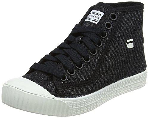 G-STAR RAW Damen Rovulc Mid Hohe Sneaker, Schwarz (Black gebraucht kaufen  Wird an jeden Ort in Deutschland