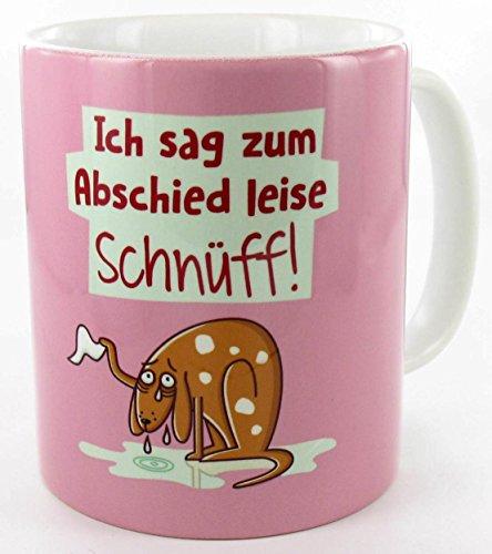 die stadtmeister Keramiktasse weiß ''Ich sag zum Abschied leise: Schnüff!
