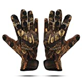 Fishing Gloves with Cut Fingers, RUNATURE Windproof Sun UV Protection Anti-Slip Outdoor Gloves