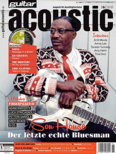 Son House Bluesman in guitar acoustic - Akustikgitarre Noten, TABs, Playalongs