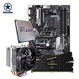 ONE GameStar-Upgradekit Pro Ryzen 5 2600 | Aufrüstkit | AMD Ryzen 5 2600 (6 x 3.90 GHz) | 8 GB DDR4 Corsair Vengeance LPX (3000 MHz) Arbeitsspeicher | ASUS PRIME B450-PLUS Mainboard | Be Quiet! Pure Rock Slim Prozessorkühler | Vormontiert | 24 Monate Garantie