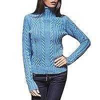 FRAUIT dames rolkraagpullover elegant gebreide trui met lange mouwen zacht geribde gebreide trui met opstaande kraag voor winter retro Draag binnen en buiten