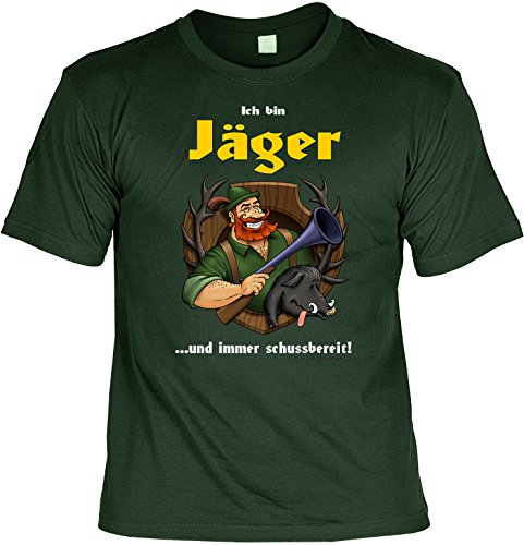 Witziges Sprüche Fun T-Shirt : Ich bin Jäger ...und immer - Tin Mann Kostüm Xl