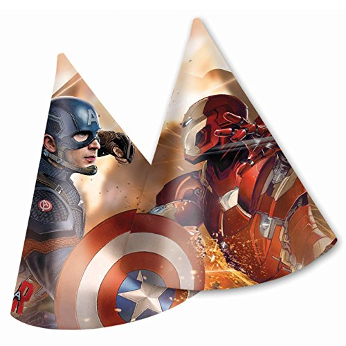 Captain America Bürgerkrieg Party Hüte, 6Stück