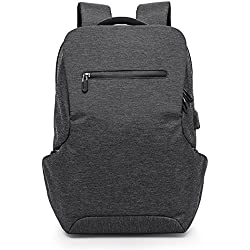 MUFUBU Presents Laptop Bags Travel Backpack with Waterproof and USB Charging Facility for Men by Kaka - Black