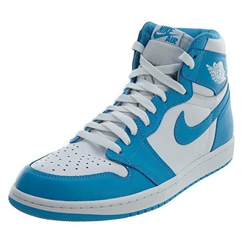 Nike Air Jordan 1 Retro High Og, Scarpe sportive Uomo Bianco / Blu (White