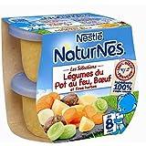 Nestlé naturnes sélection légumes pot au feu boeuf 2x200gdès 8 mois - ( Prix Unitaire ) - Envoi Rapide Et Soignée