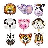 Globos de cabeza de animal, Globo de papel de fiesta, Juguetes para la boda, Decoración de fiesta de cumpleaños Regalo de niños y niñas (8 piezas)