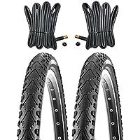 2x Kenda Fahrradreifen 20 Zoll Reifen 20x1.75 47-406 inkl. 2x Schlauch mit AV gl