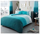 Gaveno Cavailia Luxury URBAN OMBRE Bed Set with Duvet Cover and Pillow Case, Polyester-Cotton, Teal, Double