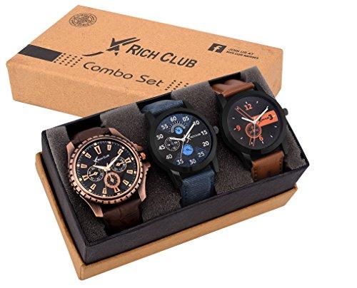Rich Club Analogue Black Blue Dial Men's Watch - REL-OCT-DENIM