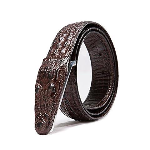 HZHY Stilvoller Alligator Kopf Gürtel für Jeans & Casual (Brown Kleid Jeans)