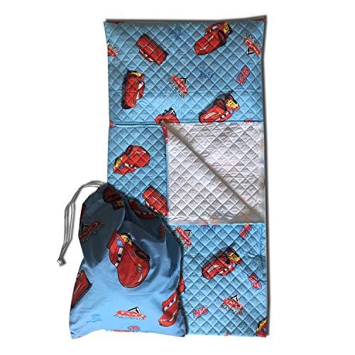 r Kinder von 2 bis 6 Jahren, mit Schlafsack und Beutel  Cars Azzurro ()