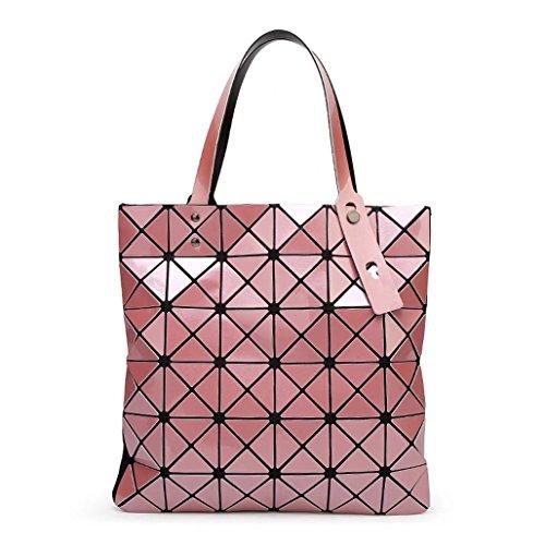 Plaid misto Laomu ologramma geometriche donne split spalla borsetta Sky-Blue Cheek-Color