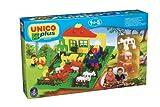 Unico plus Bausteine Set Bauernhof + Figuren + Traktor 71 tlg