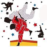 Obanban Judo De Dessin Animé En Classe De Sport Judo Stickers Muraux Depour Chambre Salon Décoration De Maisonamovible Réutilisable...
