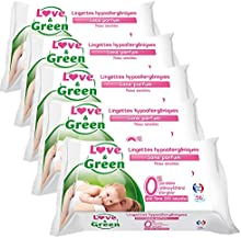 Amor y verdes Sensitive Wipes 56 Piezas Lote 5