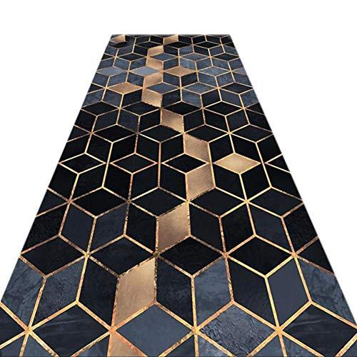 JIAJUAN 3D Drucken Läufer Teppiche Flur Atmungsaktiv Rutschfest Wohnzimmer Küche Eingangsbereich Fußabtreter Eng Lange Halle Passage Matte (Farbe : A, größe : 1.4x3.5m) -