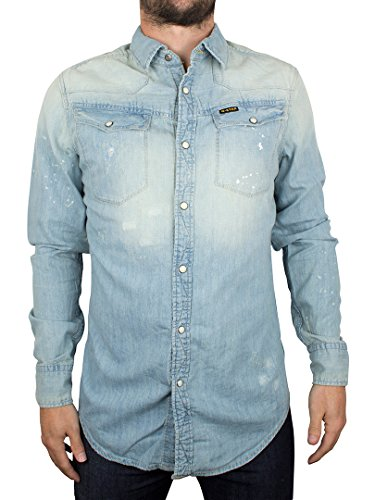 G-Star Tailor Shrt - Chemise casual - Manches longues - Homme Blue (Vintage Light Aged)