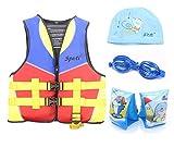 Genwiss Kinderschwimmschwimmweste 3-8 Jahre Gelb umfassen Schwimmen Arm Band und