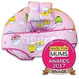 Cuscino per allattamento 4 in 1, in cotone di notevole qualità, dallo stile unico, con mini cuscino e marsupio di sicurezza per neonati