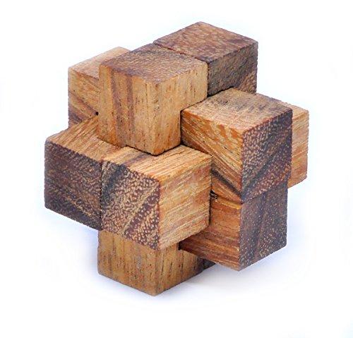 Burr (Logica Spiele art. BURR PUZZLE - Denkspiel - 3D Knobelspiel - Geduldspiel aus Holz - Schwierigkeit 4/5 EXTREM)