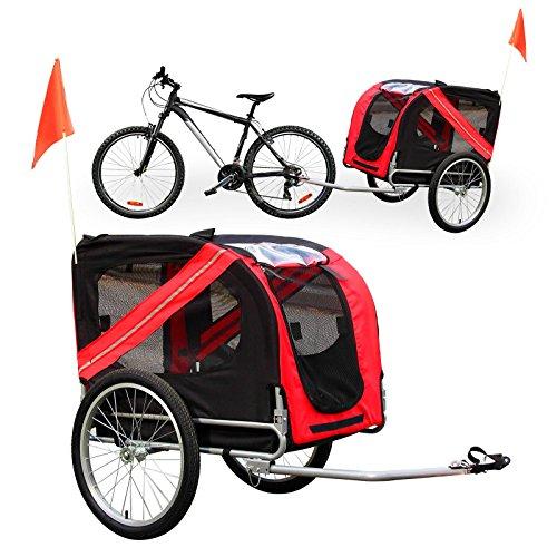 Rimorchio bici per trasporto cani trasportino passeggino portacane