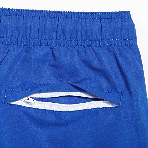 Lantra Besa CSM0008 Wasserabweisend Schnelltrocknend Herren Männer Badehose Badeshorts Knielang Boardshorts Beach Shorts für Wassersport im Sommer mit Mesh Gefüttert Blau