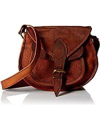 Eligance Real Leather Girls Sling Bag