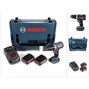 Bosch GSR 18 V-60 C Professional Brushless Li-Ion Akku Bohrschrauber in L-Boxx mit 2x GBA 6,0 Ah Akku und GAL 1880 CV…
