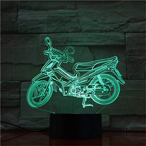 Das elektrische Motorradauto, das 3D modelliert, beleuchtet Illusionsnachtlicht LED-Birnenmehrfarbennote USB-niedrige Lava RGB-Schlafzimmerbeleuchtung ## 11 -