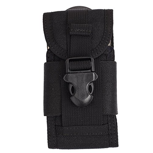 OneTigris Einstellbare Taktische Smartphone pouch Handytasche Hüfttasche Für iPhone SE/4/4S/5 (Schwarz)