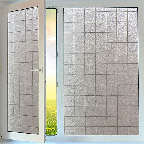 Bloss Fenster Folie Privacy Glas Frosted Fensterfolie Dekorative Kontakt Papier für Windows Home Badezimmer Küche Schlafzimmer, 45x 199,9cm (Kontakt-papier-fenster-folie)