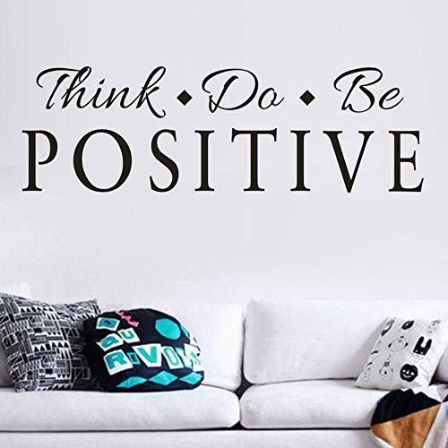 Yzybz 60 Cm X 20 Cm Denken Sie Seien Sie Positiv Vinyl Quote Wandaufkleber Wörter Decals Home Decor Abnehmbare Diy Für Wohnzimmer Deccoration