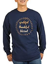 CafePress Grateful Thankful Blessed - Unisex Cotton Long Sleeve T-Shirt