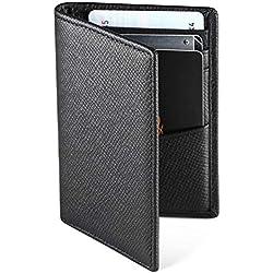 Hardwork Secret Porte Cartes de Crédit, RFID Blocage, Bifold Portefeuille Homme Cuir Véritable, Rangement Carte de Crédit et Billets (Noir Mat)