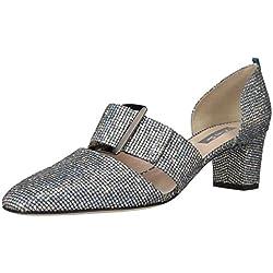 SJP by Sarah Jessica Parker Anahita, Zapatos de Tacón para Mujer, Plateado (Silver Scintillate), 37.5 EU
