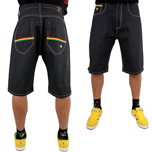 phat-farm-rasta-streifen-schlabber-japan-raw-denim-jeans-shorts-raw-jeans-28w-x-regular