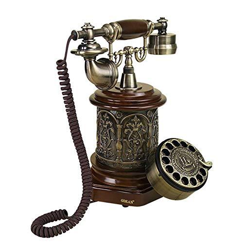 Hifuture telefono con quadrante rotante, telefono rotante classico di stile europeo di nostalgia, per la casa, l'ufficio, la casa di lusso, l'hotel della stella, la galleria di arte