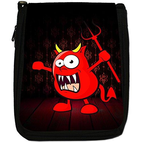 I mostri Medium Nero Borsa In Tela, taglia M The Monsters - Devil