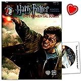 Produkt-Bild: Die Harry Potter Instrumental Solos für Flöte - Selections from the Complete Film Series enthält erstmalig eine Sammlung aus allen acht Filmen des Harry Potter Epos - Sammelband mit CD und bunter herzförmiger Notenklammer